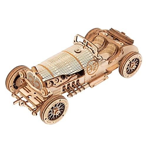 3Dパズル ウッドパズル 暇つぶしおもちゃ 脳トレ 子供向け 大人向け おもちゃ 知育玩具 木製パズル (クロカン車) (レッシングカー)