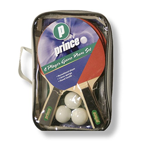 Prince TT 4jugadores Raqueta de tenis de mesa Set 41,5mm blando 3pelotas
