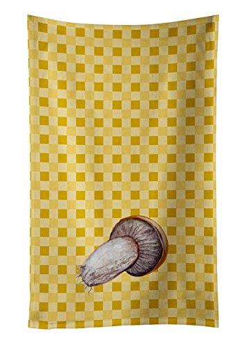 Caroline 's Treasures bb7212ktwl Rotkappe Pilz auf Basketweave verziert Geschirrtuch, 25hx15W, multicolor
