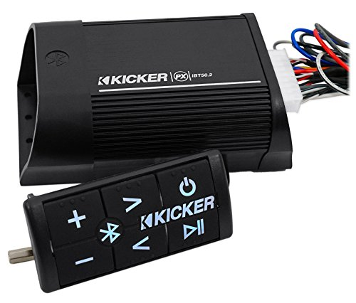 "(4) Kicker 40PS694 6x9"" 180w Motorcycle/ATV Speakers+Bluetooth Amplifier+Amp Kit"