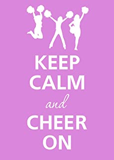 Rectangle Refrigerator Magnet - Keep Calm and Cheer On Cheerleaders