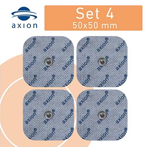 Set 4 electrodos/parches axion - 5x5 cm - Compatibles con Sanitas/Vitalcontrol & Beurer
