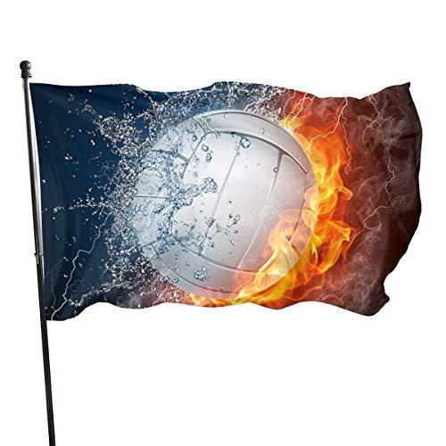 GOSMAO Bandera de jardín de Bienvenida, Banderas de Patio de Voleibol de Hielo y Fuego para Primavera, Verano, otoño, Patio, decoración de Granja al Aire Libre, 150X90cm