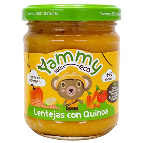 Yammy Potito Ecológico De Lentejas Con Quinoa A Partir De 4 Meses 195 g Pack de 12