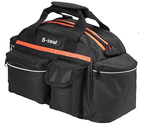FülleMore Fahrrad Gepäckträgertasche 14L Transporttaschen Multifunktionale Fahrradtasche Rücksitztasche Radfahren Gepäckträger Tasche Schultertasche Hinter Satteltasche