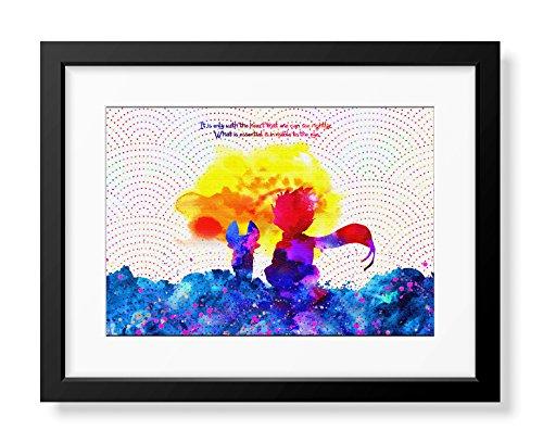 """Preisvergleich Produktbild Uhomate C044 Kunstdruck auf Leinwand,  Motiv """"Der kleine Prinz Fuchs Le Petit Prinz"""",  8x10 Inch"""