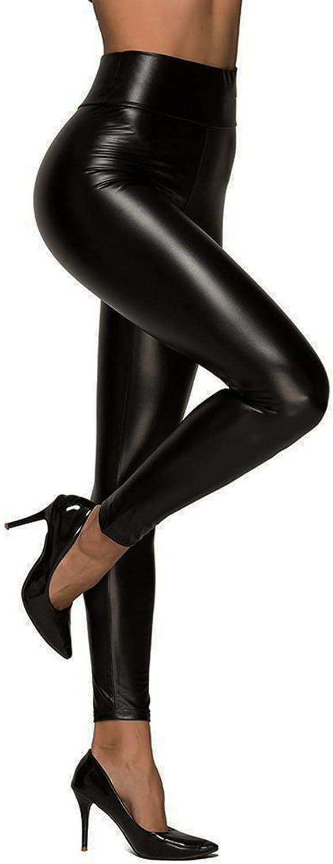 Columbus Mall Jassgo Matte Faux Leather Leggings Tummy Compr Women Control Oakland Mall for