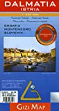 Dalmatia/Istra Geographical Gizi Map (Croatia, Montenegro, Slovenia Coast) (GEOGRAPHICAL MAP - 1/250.000) (French Edition)