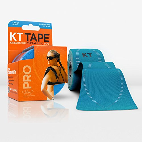 KT Tape Pro SYNTHETIC Kinesiology Elastic Sports Tape - Pain Relief and Support - 100% waterproof - 4.9m roll