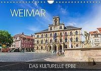 Weimar - das kulturelle Erbe (Wandkalender 2022 DIN A4 quer): Wandeln Sie auf den Spuren von Schiller und Goethe in der charmanten Kulturstadt Weimar (Monatskalender, 14 Seiten )