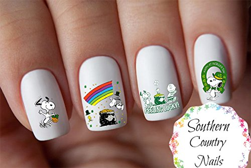 St. Patrick's Day Snoopy St. Patrick's Day Patty Day Design #107 Nail Art Decal