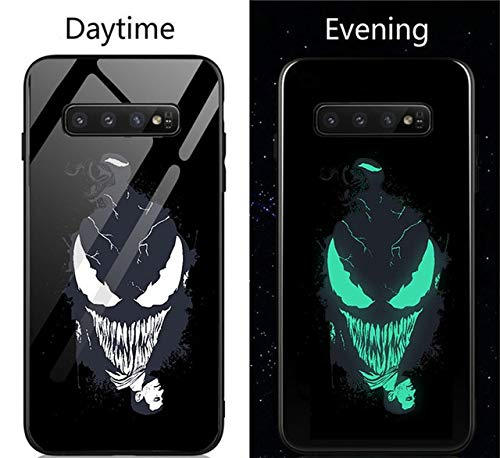 Venom Deadpool Black Panther Iron Man Batman Coque en verre pour Samsung Galaxy S8 S9 S10 E Plus Note 9 8 For Samsung S10 Plus Venom A