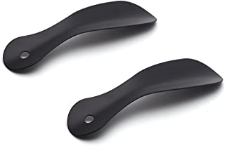 Antrader 2pcs Stainless Steel Small Handled Pocket Shoe Horns 7.5