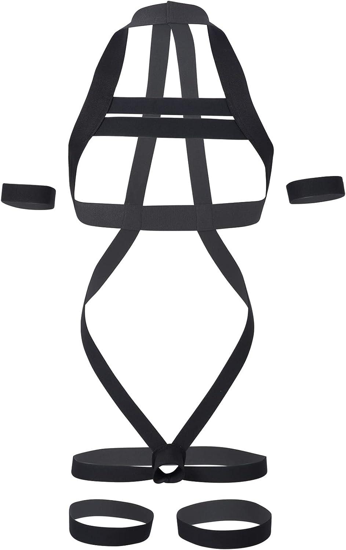 Zbaisen Mens Shoulder Harness Belt Body Chest Elastic Halter Nylon Strap Jockstrap Costume