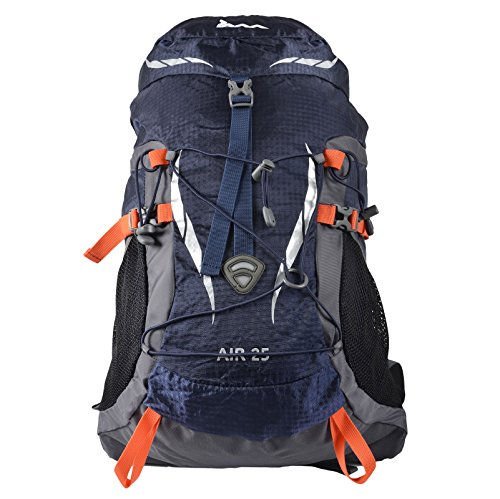 JAM 25L Navy Waterproof Rucksack Air Hiking Camping Hydrate Trek Travel Backpack