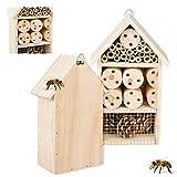 Smart Planet Hotel de insectos de 15 cm x 25 cm con soporte para tu propio jardín – Nido como ayuda a la intemperie – Casa de insectos para proteger la naturaleza de las abejas