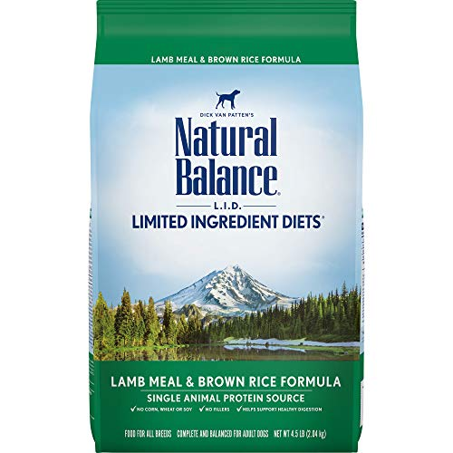 Natural Balance L.I.D. Limited Ingredient Diets Dry Dog Food, Lamb Meal & Brown Rice Formula, 4.5 Pounds