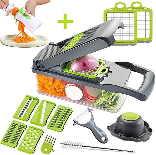 Mandoline Slicer Adjustable Cheese Slicer Vegetable Chopper Hand Spiralizer Potato Spiral Cutter product image