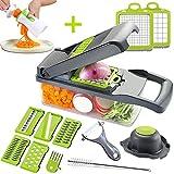 Mandoline Slicer Adjustable Cheese Slicer,Vegetable Chopper Hand Spiralizer,Potato Spiral Cutter...