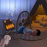 TUMAMA Baby Spielmatte mit Musik,Baby Aktivitätsmatte Baby Fitness Spielmatte Kick and Play mit Musik und Lichtern,Spielzeug Rassel Aktivitätszentrum für Jungen und Mädchen(Rabbit)