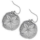 DANFORTH - Sand Dollar Earrings - Pewter - Surgical Steel Wires - Handcrafted - Made in USA [並行輸入品]