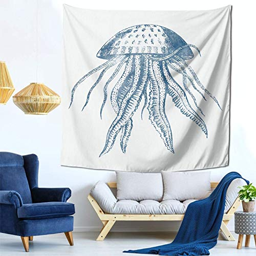 YouGaet Tapestry Wall Hanging Octopus Ink Drawing Tapestry with Art Nature Home Decorations for Living Room Bedroom Dorm Decor in 59'X 59' Inch