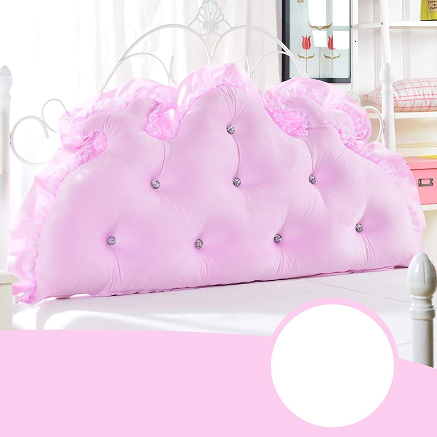 Headboard Bed Backrest Cushion Bed Cushion Bedside Pillow Soft Large Pillow Lumbar Support Detachable and Washable 6 Solid colors 4