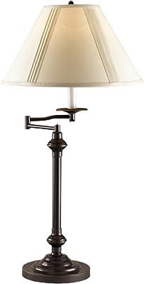 Cal Lighting BO-342-DB Swing Arm Table Lamp, 150-watt, Dark Bronze