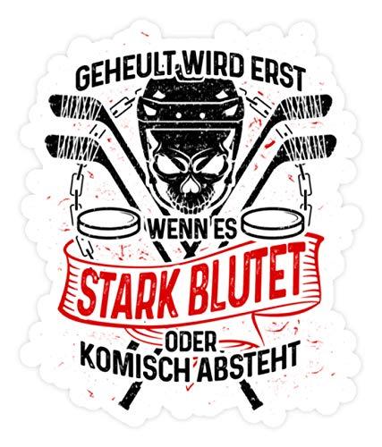 shirt-o-magic Aufkleber Eishockey: Eishockeyspieler heulen nicht - Sticker - 10x10cm - Weiß