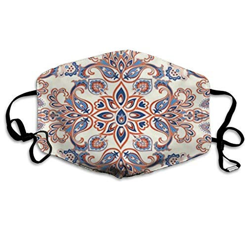 Outdoor Breathable Headscarf Unisex, Dustproof, Windproof, Sunscreen, Washable Geometric Ethnic Floral Ornament Background