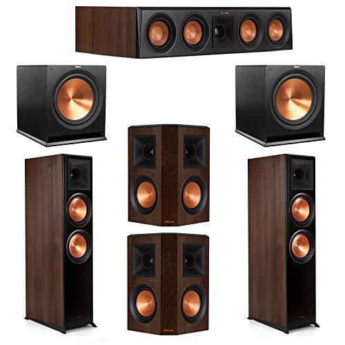 Amazing Deal Klipsch 5.2 Walnut System 2 RP-8000F Floorstanding Speakers, 1 Klipsch RP-504C Center S...