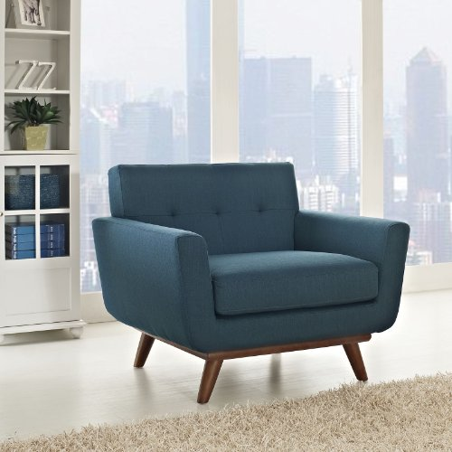 Modway Engage Mid-Century Modern Upholstered Fabric Accent Arm Lounge Chair in...