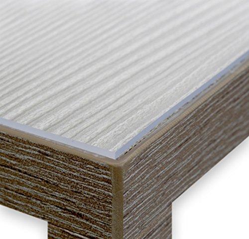 BEAUTEX Glasklar Folie 2,0 mm - Transparente Tischdecke Tischschutz - Made in Germany - Breite und Länge wählbar - eckig 100x200 cm
