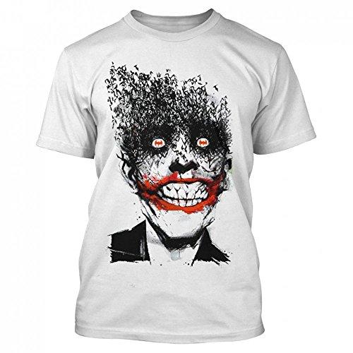 T-Shirt Batman – Bat Joker Smile T-shirt blanc - Blanc - Small