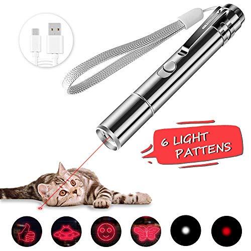 BiuCat LED Pointer Katzen Hund Spielzeug Haustier LED Light Licht Pointer mit USB Kabel