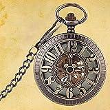 懐中時計レトロファッション時計トレンド男性と女性機械式時計写真懐中時計は父への贈り物を飾る