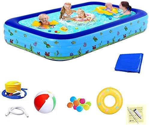 Ocean Ball Pool - Pelota portátil rectangular para niños, hinchable resistente al desgaste grueso (color: horno, 1,5 m)