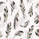 AMAZING WALL Peel and Stick Wallpaper Feather Pattern Self Adhesive 40x500cm