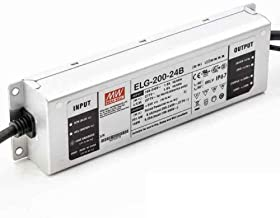 Mean Well 24V Power Supply, ELG-200-24B LED Driver - 200W 24V 8.4A -Dimmable - IP67