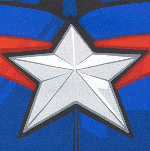 Marvel Pigiama a Maniche Corta per Ragazzi Captain America Nero 8-9 Anni