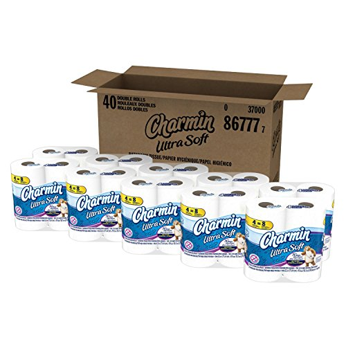 Charmin Ultra Soft Toilet Paper ((All New Mega Pack)) Total of 80 Ultra Soft Double Rolls