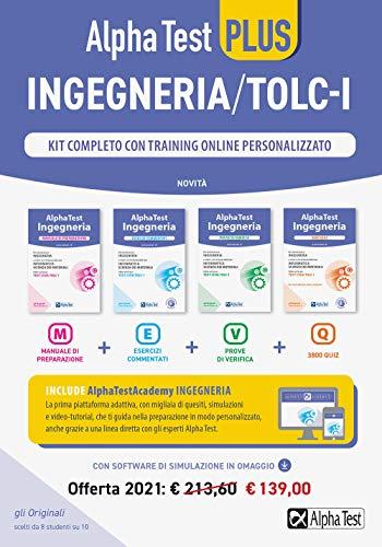 Alpha Test plus. Ingegneria. Kit completo di preparazione con training on line personalizzato. Con software di simulazione