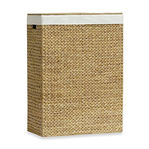 The Classic Brown Lamont Home Solei Water Hyacinth Family Laundry Hamper