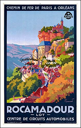 Herbé ™ Tourisme ROCAMADOUR Rf512 - Poster/Reproduction A3+(33x48cm) d'1 Affiche Vintage/Ancienne/Rétro