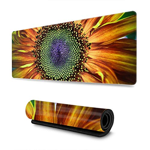 Sunflower Gaming Mouse Pad XL, Extended Large Mouse Mat Desk Pad, Stitched Edges Mousepad, Long Non-Slip Rubber Base Mice Pad, 31.5 X 11.8 Inch