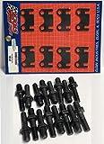 New Flat 5/16' Push Rod Guide Plates & 3/8' Rocker Arm Studs Chevy sb 400 383 350 327 305 283 (3/8 Studs)