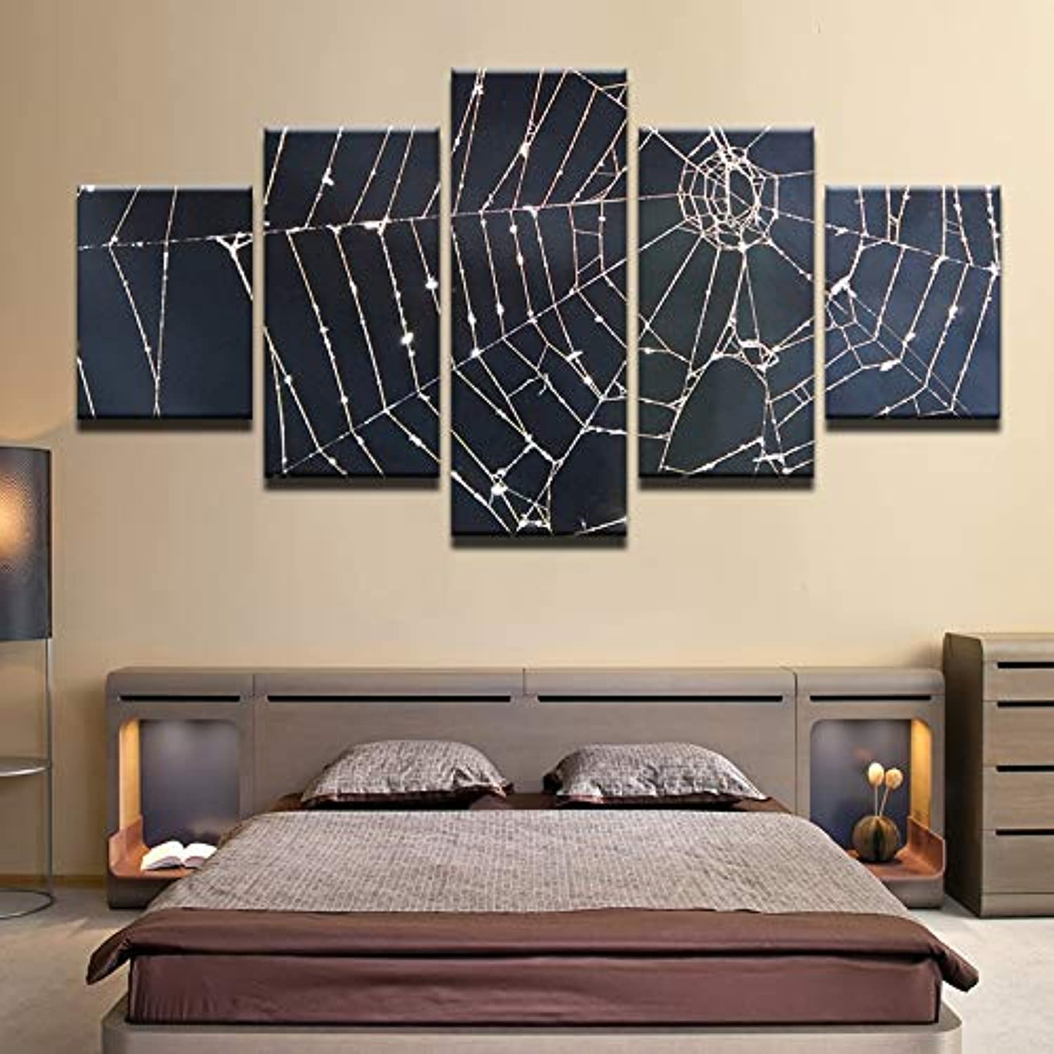 Canvas Paintings Modular Wall Art Framework Home Decor 5 Pieces Spider Silken Webs Landscape Pictures HD Prints Bedroom Poster
