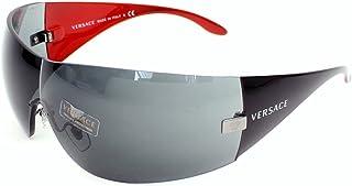 Versace VE2054 Women Plastic Rhutenium Sunglasses, 41 mm