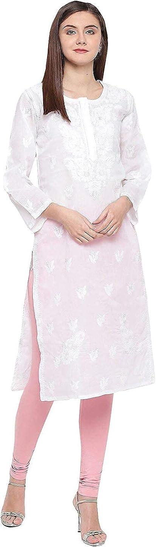 Ada Indian Hand depot Embroidered Chikankari Kurti Cotton Tunic Finally resale start Kurta