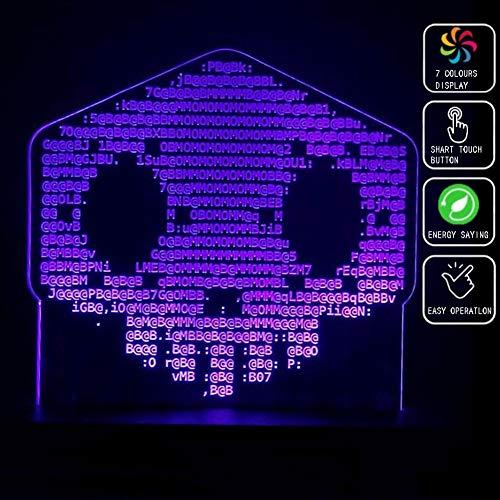 Overwatch Sombra 3D acrílico luz de la noche, de...